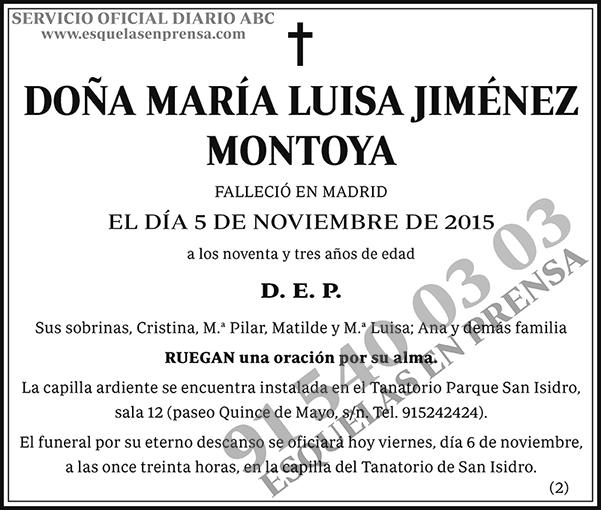 María Luisa Jiménez Montoya